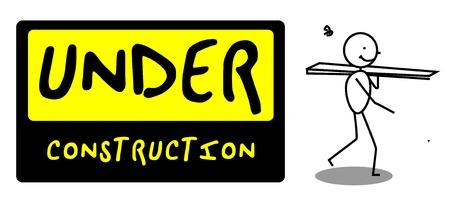 Under Construction people illustration vector Stock Vector - 12053598