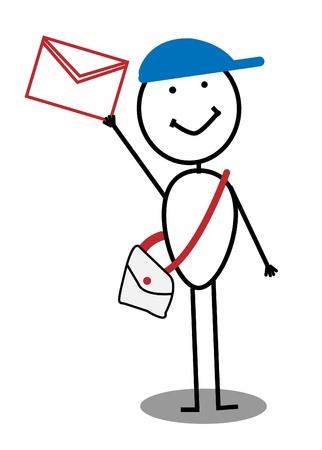 postman  Stock Vector - 12053596