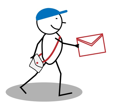 Happy post man  Vector