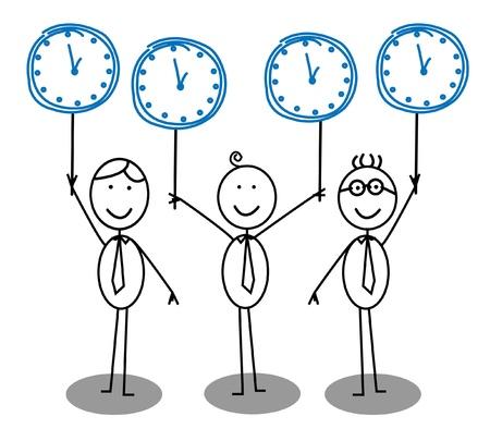 office clock: Equipo de texto del Grupo de