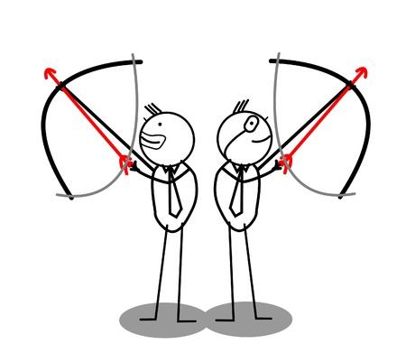 Businessman Archery Group  Vector