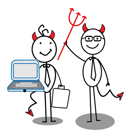 devil Businessman teamwork  Vector