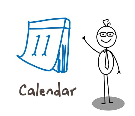 comandante: Imprenditore Calendar Vettoriali