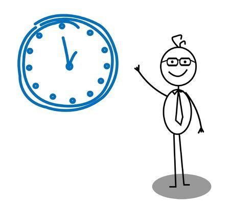 principal: Clock Businessman