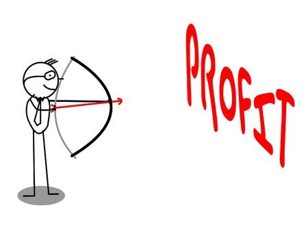 Archery Profit Target Business Stock Vector - 12053668