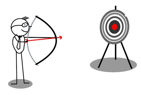 Archery Target Business Stock Vector - 12053697