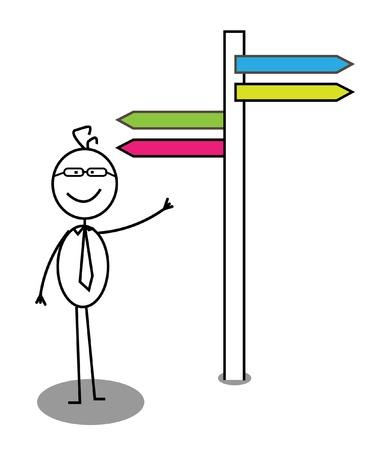 Business Direction  Illustration