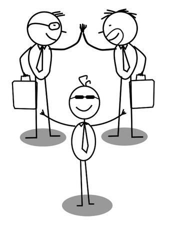 Business Agreement Intermediary  Vector