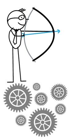 businessman arrow  Vector