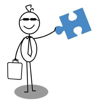 Businessman Open Cooperation Stock Vector - 12927403