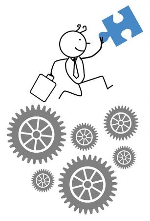 businessman cooperation progress  Illustration