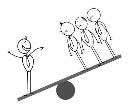 nemici: Uomo d'affari su scale Vettoriali