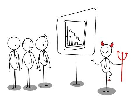 bad guy: red devil businessman presentation