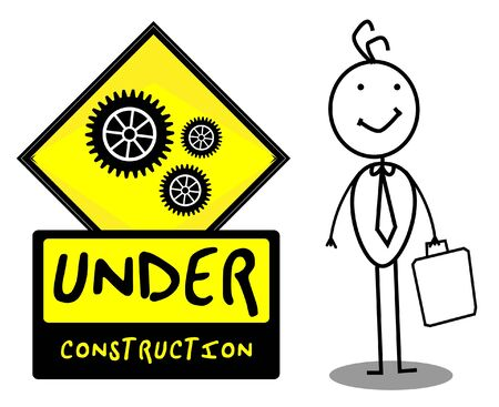 Under Construction sign Stock Vector - 12927402
