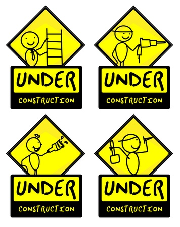 Under Construction people illustration vector  Vector