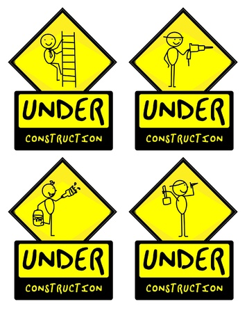 Under Construction people illustration vector Stock Vector - 12927429