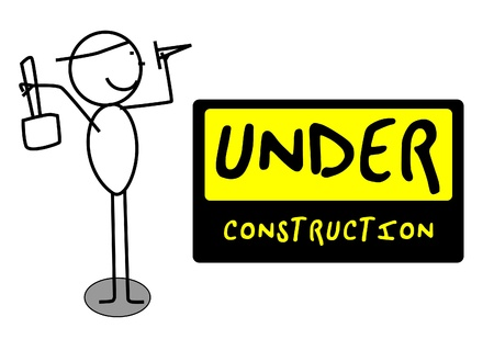 coming home: Under Construction people illustration