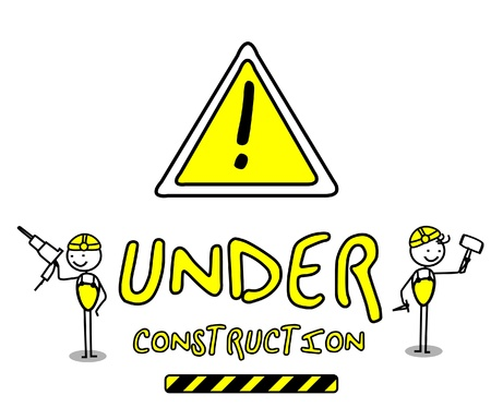 web page under construction: Under Construction  Illustration