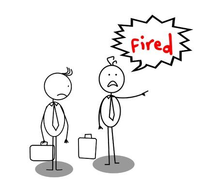 Fired businessman Stock Vector - 13050326