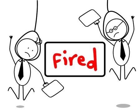 Fired businessman Stock Vector - 13050523