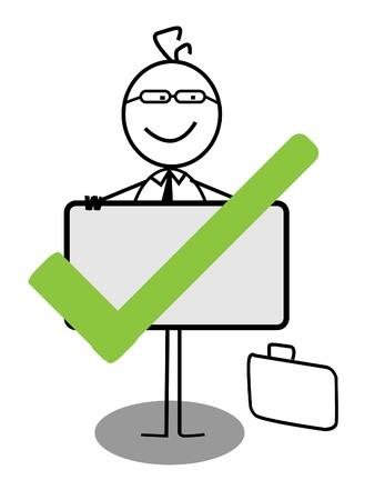 Choose businessman Stock Vector - 13050588