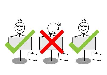 Businessman negative symbol Stock Vector - 13050575