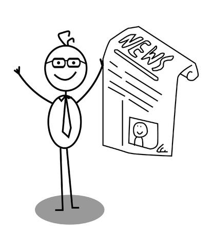 Businessman Happy News Vector