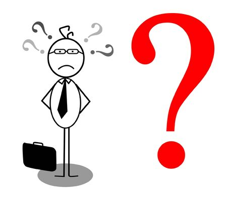 businessman problem Stock Vector - 13189384