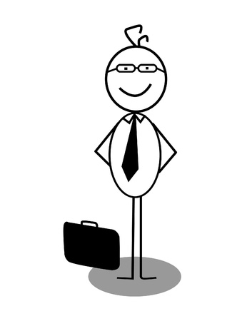 Businessman stand up Vector