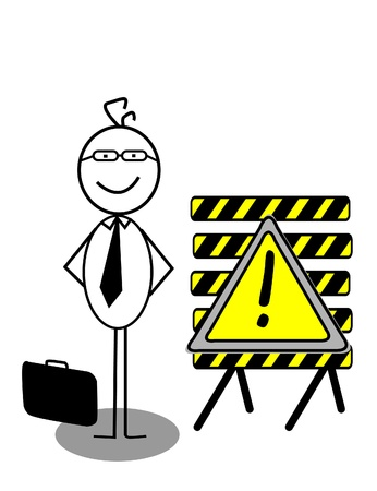 Businessman UnderConstruction Stock Vector - 13189381