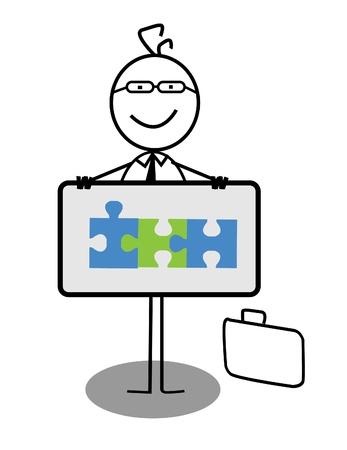Businessman Cooperation Banner Stock Vector - 13189340