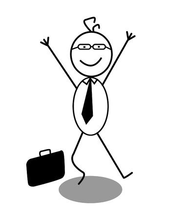 Happy Businessman Stock Vector - 13325003