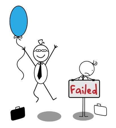 Happy Businessman   Failed Businessman Vector