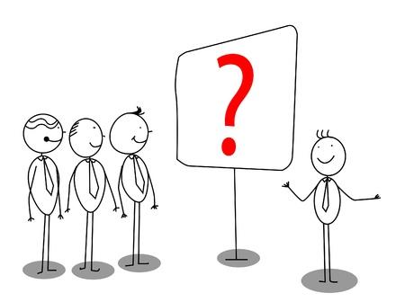 Businessman Presentation about problem Illustration