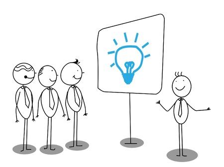 Businessman Presentation about idea Stock Vector - 13324994