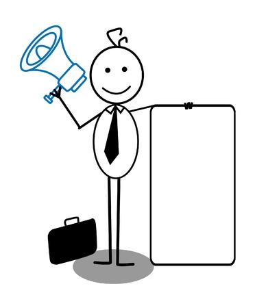 businessman and megaphone Stock Vector - 13325014