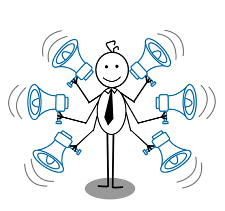 businessman and megaphone Illustration