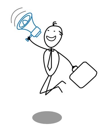 businessman and megaphone Stock Vector - 13325045