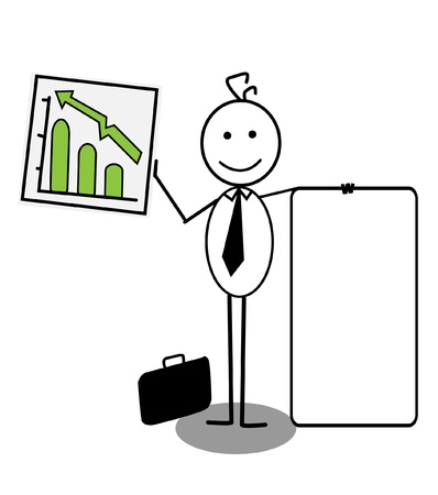 businessman Up chart  Vector