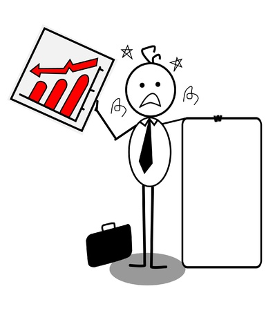 businessman down chart