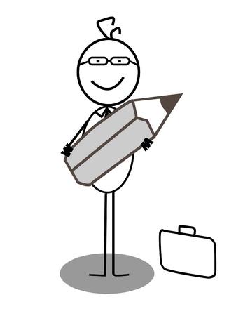Businessman pencil Stock Vector - 13654765