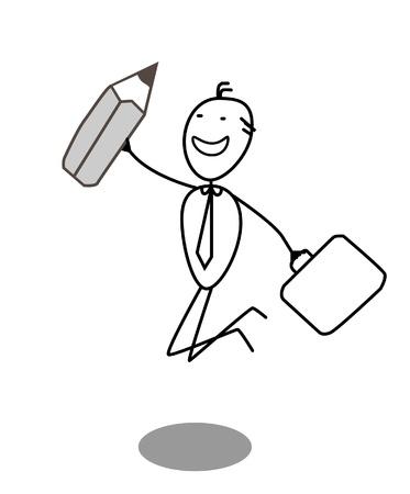 Businessman pencil Stock Vector - 13654815