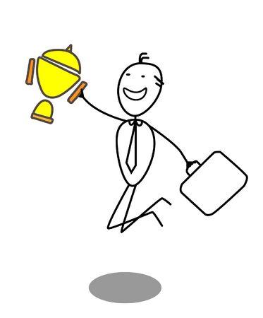 Businessman Winner Stock Vector - 13654806