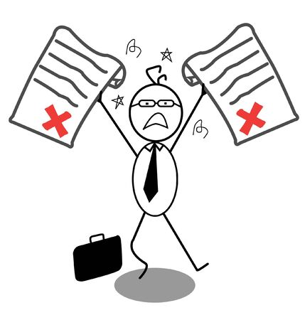 Businessman Rejected  Stock Vector - 13654797