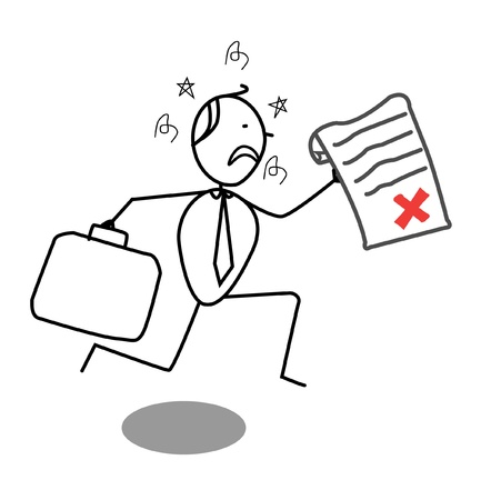 rejected: Businessman Rejected  Illustration