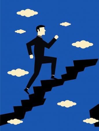 Businessman Career Growth Vector