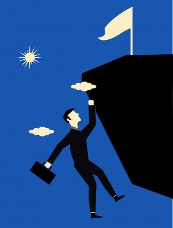 Businessman Climb Vector