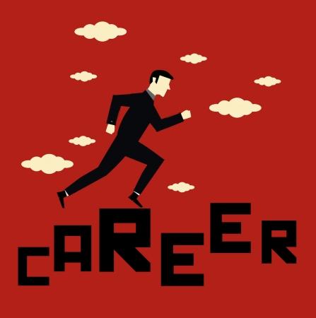 progress steps: Businessman Career