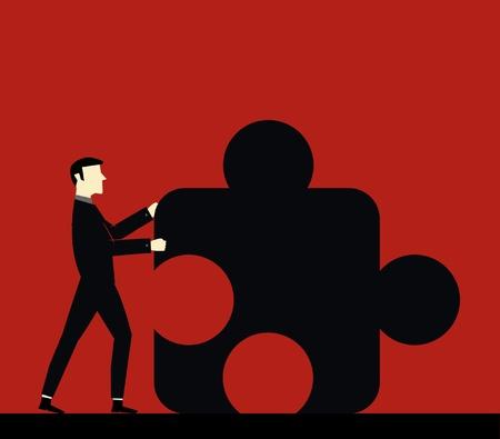 Businessman Cooperation Stock Vector - 13792046