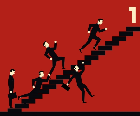 career up: Businessman Stair Competition